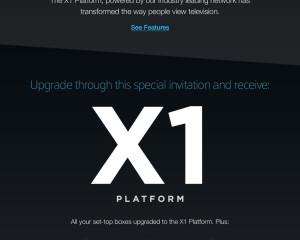 Xfinity X1 Platform Website